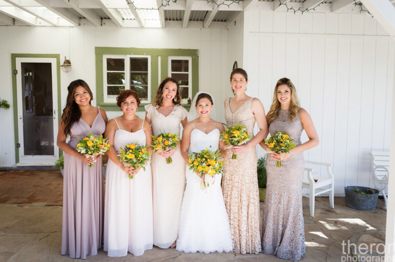 Makeup (Except for Bride & Bridesmaid to her right). Photography by Theron Photography.